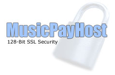 MusicPayHost.com - 128-Bit SSL Security